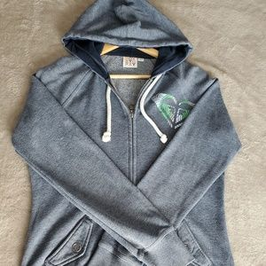Roxy Junior Hoodie zip up sweater size: Large